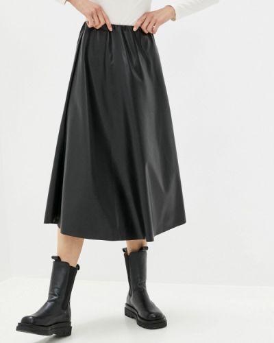 Черная кожаная юбка Hey Look