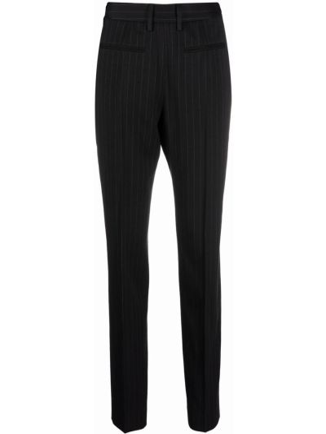 Spodnie bawełniane - czarne Mm6 Maison Margiela