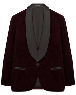Красный пиджак с воротником с подкладкой в рубчик Brunello Cucinelli
