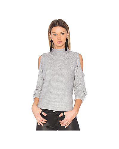 Вязаный свитер в рубчик с открытыми плечами 1. State