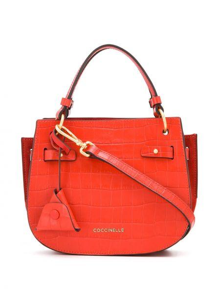 Кожаная сумка круглая сумка-тоут Coccinelle