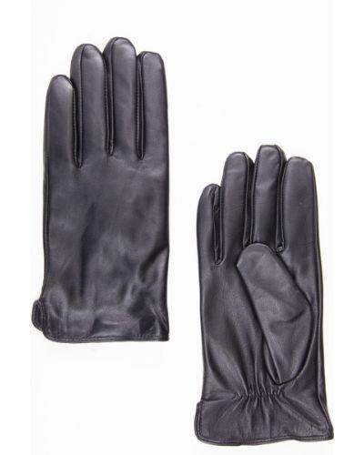 Кожаные перчатки черные Finn Flare