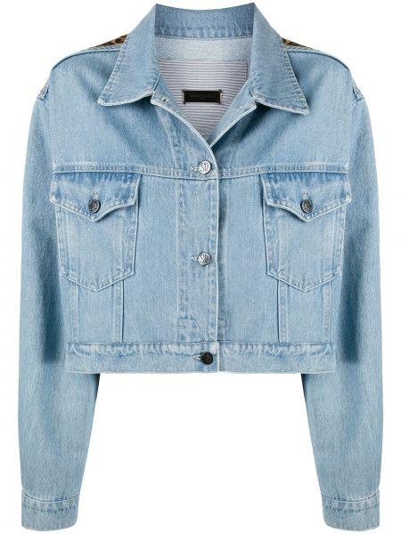 Синяя джинсовая куртка с воротником свободного кроя Simonetta Ravizza