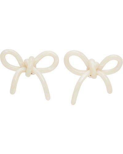 Białe kolczyki sztyfty srebrne perły Shushu/tong