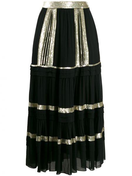 Плиссированная юбка с пайетками с завышенной талией Temperley London