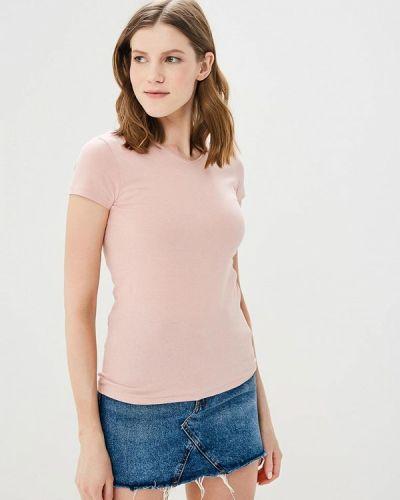 Розовая футболка Naf Naf