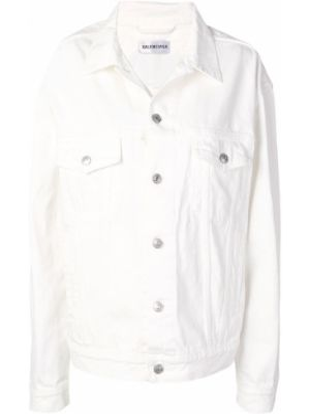 Джинсовая куртка оверсайз с карманами Balenciaga