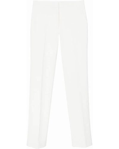 Beżowy wełniany spodni spodnie Carolina Herrera