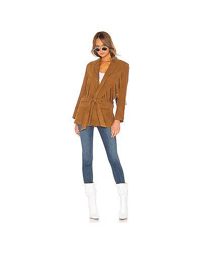 Кожаная куртка укороченная с карманами Understated Leather
