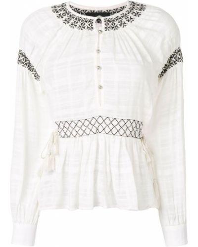 Блузка с длинным рукавом с завязками с вышивкой Diesel Black Gold