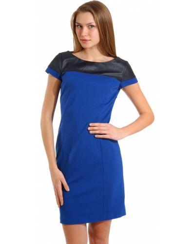 Платье из вискозы - синее Tru Trussardi