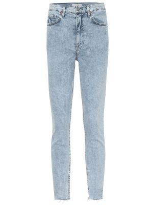 Синие зауженные деловые джинсы-скинни с пайетками Grlfrnd