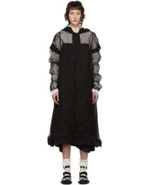 Коралловое длинное пальто из фатина Renli Su