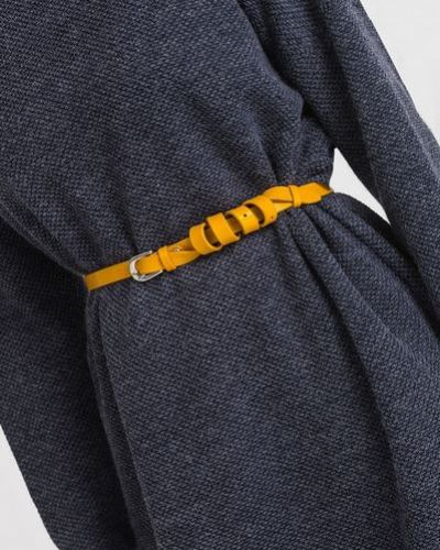 Желтый кожаный ремень Vovk