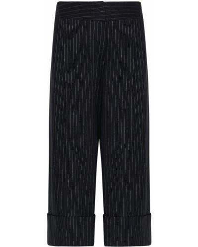 Укороченные брюки с защипами в полоску Antonio Marras