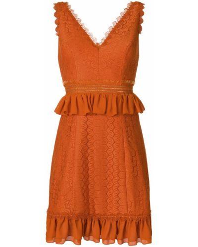 Оранжевое платье Three Floor