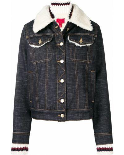 Синяя джинсовая куртка с вышивкой на пуговицах Hilfiger Collection