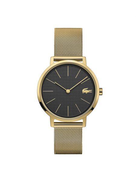 Żółty złoty zegarek Lacoste