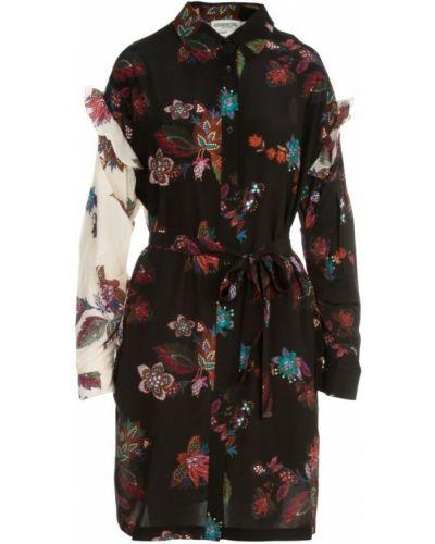 Czarna sukienka z printem Essentiel Antwerp