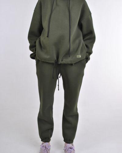 Трикотажные спортивные брюки - хаки Fashion Club