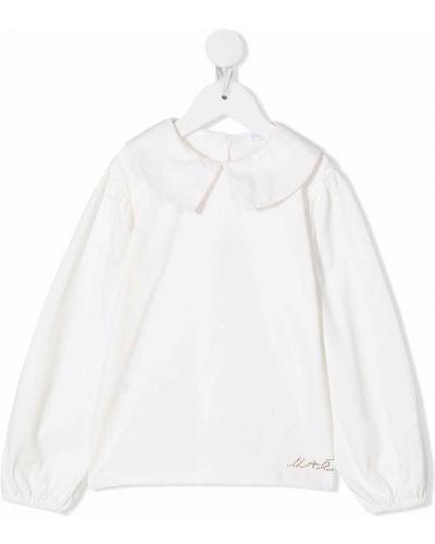 Bluzka z haftem - biała Miss Grant Kids