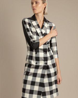 Летнее платье двубортное с отложным воротником Vassa&co