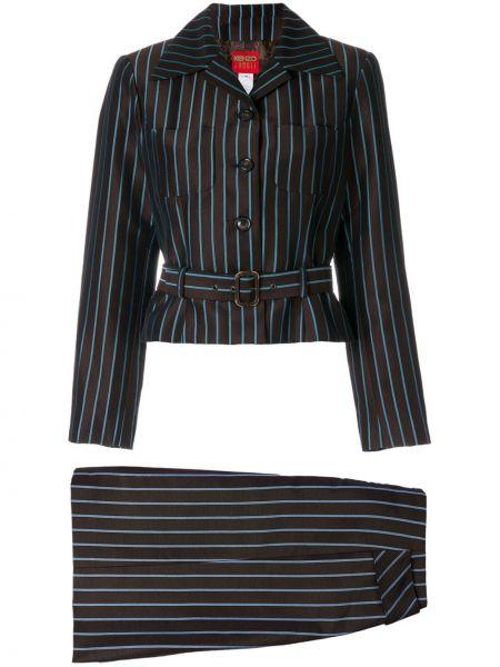 Коричневый костюмный вязаный юбочный костюм Kenzo Pre-owned