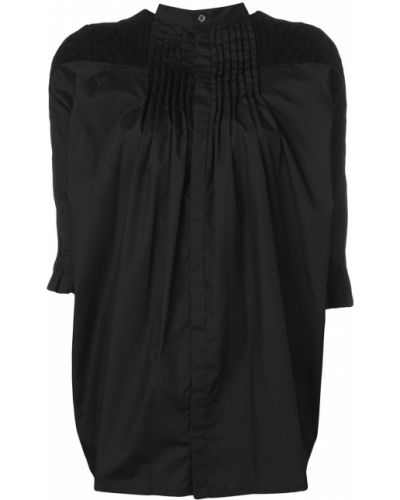 Блузка оверсайз черная Sacai