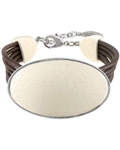 Кожаный браслет бежевый Nature Bijoux