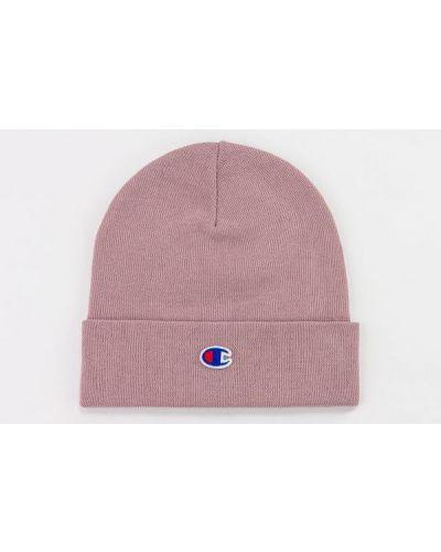 Różowa czapka z haftem Champion
