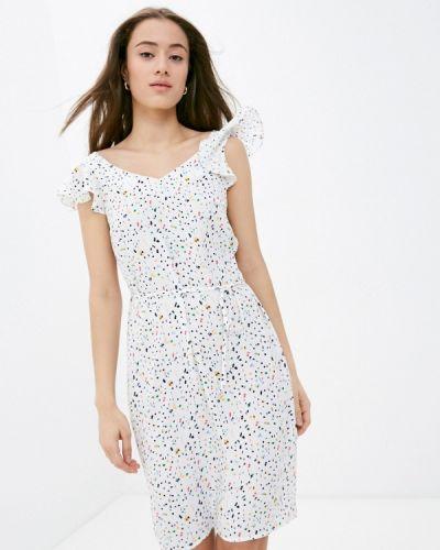 Прямое белое платье А-силуэта Raya