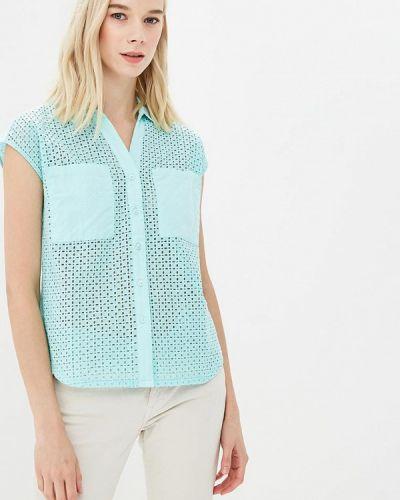 Блузка бирюзовая весенний Sela