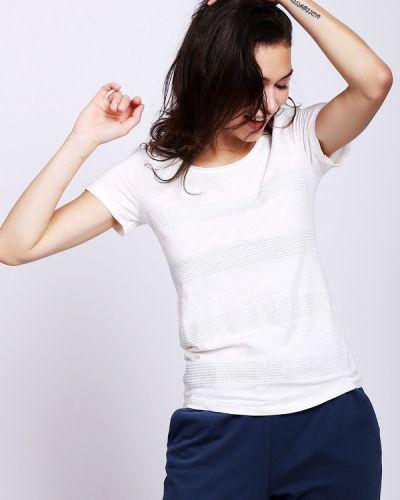 Хлопковая с рукавами белая футболка Lerros
