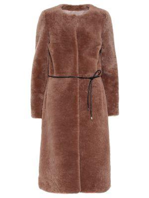 Бежевое пальто Yves Salomon