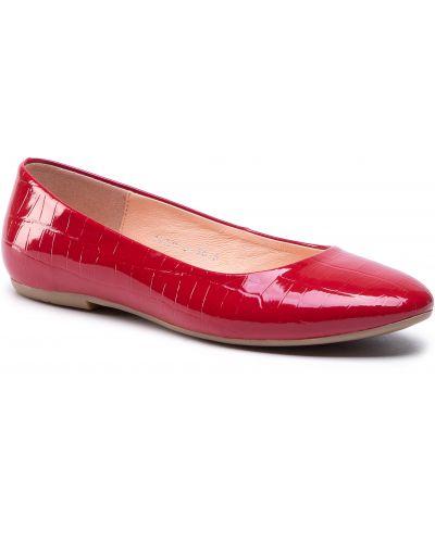 Czerwone balerinki Baldaccini