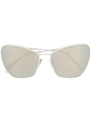 Белые солнцезащитные очки металлические Céline Eyewear