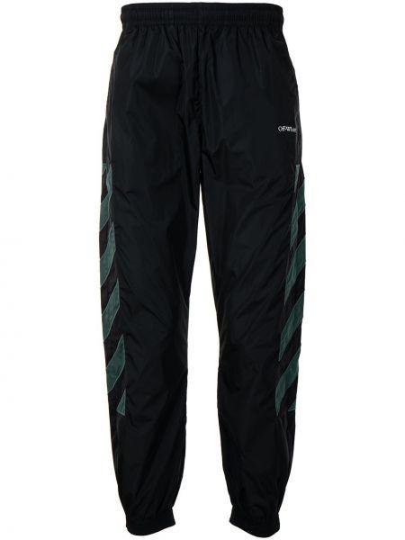 Czarny spodnie z paskami z kieszeniami Off-white