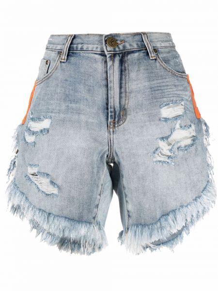 Синие джинсовые шорты с завышенной талией One Teaspoon