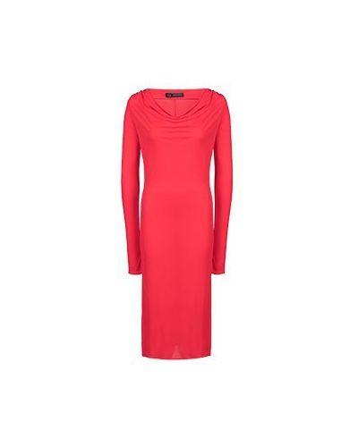 Коктейльное платье из вискозы с вырезом Versace