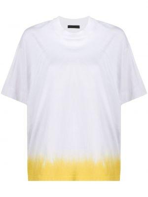 Biały t-shirt bawełniany krótki rękaw Atm Anthony Thomas Melillo