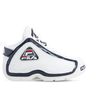 Białe sneakersy sznurowane koronkowe Fila Urban
