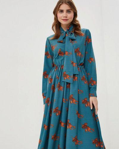 Платье бирюзовый Ribbon