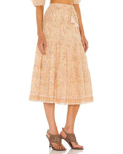 Beżowa spódnica bawełniana Cleobella