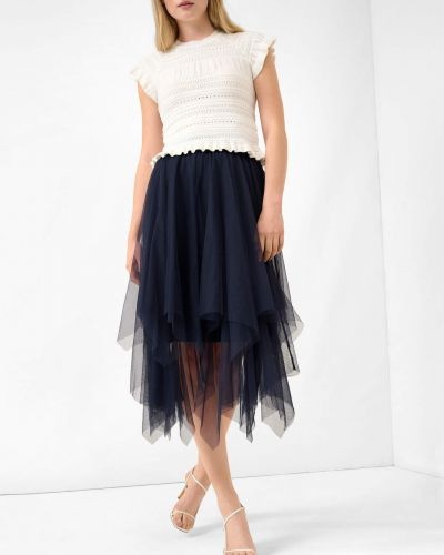 Niebieska spódnica tiulowa Orsay