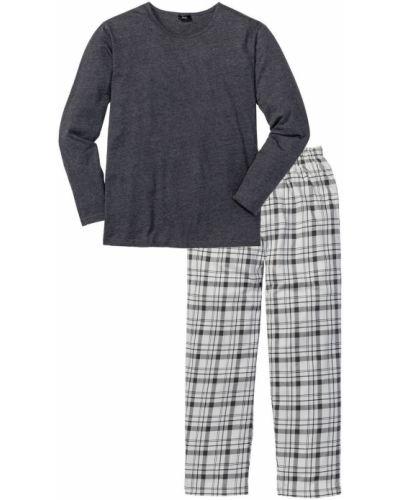 Пижама в клетку меланж Bonprix