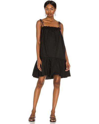 Повседневное шелковое черное платье Lpa
