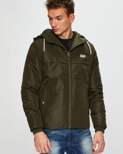 Утепленная куртка с капюшоном милитари Jack & Jones