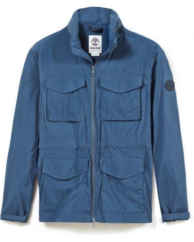 Хлопковая синяя куртка с карманами Timberland