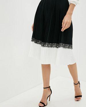 Плиссированная юбка черная Lusio