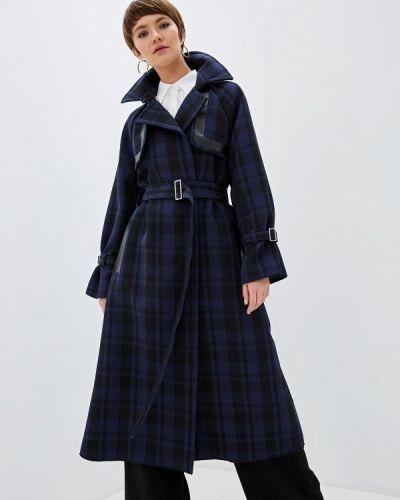 Синее пальто с капюшоном Beatrice.b